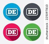 german language sign icon. de... | Shutterstock .eps vector #225097810