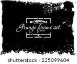 design template.abstract grunge ... | Shutterstock .eps vector #225099604