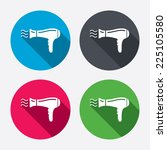 hairdryer sign icon. hair... | Shutterstock .eps vector #225105580