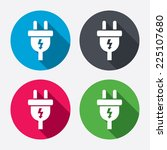 electric plug sign icon. power...   Shutterstock .eps vector #225107680