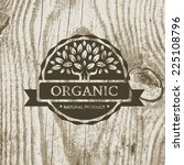 organic product badge with tree ... | Shutterstock .eps vector #225108796