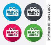 black friday gift sign icon.... | Shutterstock .eps vector #225111070