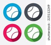 baseball ball sign icon. sport... | Shutterstock .eps vector #225112249
