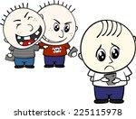 little child bullied by mobile... | Shutterstock .eps vector #225115978