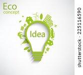 light bulb idea  creative... | Shutterstock .eps vector #225116590