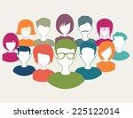 teamwork with trendy flat... | Shutterstock .eps vector #225122014