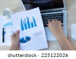 close up of business person use ... | Shutterstock . vector #225122026