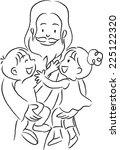 jesus and kids | Shutterstock .eps vector #225122320