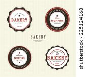 abstract bakery objects on a... | Shutterstock .eps vector #225124168