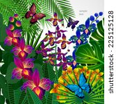 floral design background.... | Shutterstock .eps vector #225125128