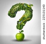 green diet questions concept as ... | Shutterstock . vector #225131140
