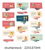 baby flat banner background set ... | Shutterstock .eps vector #225137344