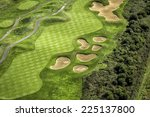 aerial view of golf course | Shutterstock . vector #225137800