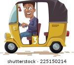 The Smiling Indian Rickshaw Is...