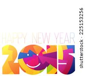 happy new year 2015 colorful... | Shutterstock .eps vector #225153256