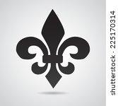 fleur de lis. symbol isolated... | Shutterstock .eps vector #225170314