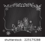 christmas chalkboard background.... | Shutterstock .eps vector #225175288