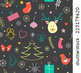 vintage christmas colorful... | Shutterstock .eps vector #225179620