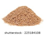 a pile of wheat bran on a white ... | Shutterstock . vector #225184108