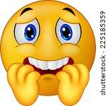 scared emoticon smiley | Shutterstock .eps vector #225185359