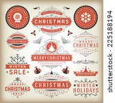 christmas decoration vector... | Shutterstock .eps vector #225188194