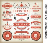 christmas decoration vector... | Shutterstock .eps vector #225188200