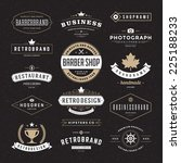 retro vintage insignias or... | Shutterstock .eps vector #225188233