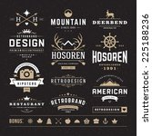 retro vintage insignias or... | Shutterstock .eps vector #225188236