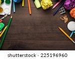 school supplies with copy space ... | Shutterstock . vector #225196960