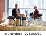 coffee break at business...   Shutterstock . vector #225200080