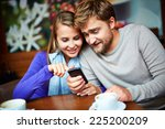 portrait of young couple with... | Shutterstock . vector #225200209