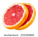 Grapefruit Slices Isolated On...