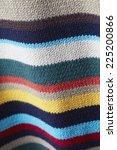 close up of striped woolen... | Shutterstock . vector #225200866
