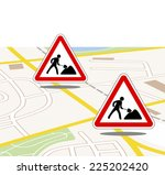 city map with traffic and road... | Shutterstock . vector #225202420