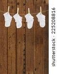 socks on washing line against... | Shutterstock . vector #225208816