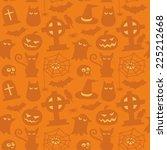 halloween pattern | Shutterstock .eps vector #225212668
