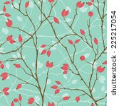 seamless pattern with styled... | Shutterstock .eps vector #225217054