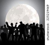 halloween background with...   Shutterstock .eps vector #225219469