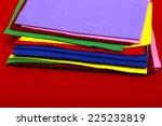 varicolored felt background  | Shutterstock . vector #225232819