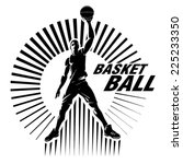 basketball player. vector... | Shutterstock .eps vector #225233350