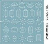 vector illustration of a set of ... | Shutterstock .eps vector #225237403
