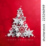 christmas and new years red... | Shutterstock .eps vector #225246949