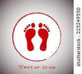 vector illustration foot red... | Shutterstock .eps vector #225249550
