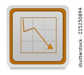 data analysis square icon on... | Shutterstock . vector #225250894