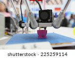 3d printing piece   3d printing ... | Shutterstock . vector #225259114