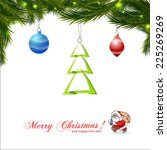 christmas colorful background... | Shutterstock .eps vector #225269269