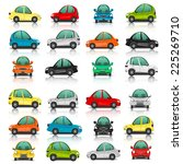 set of car side and front view... | Shutterstock .eps vector #225269710