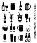 alcohol drinks icons set   Shutterstock .eps vector #225279133