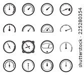 set of tachometer icons. vector ... | Shutterstock .eps vector #225280354