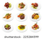collection of meat dishes on... | Shutterstock . vector #225284599